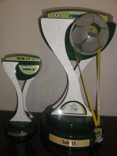 Troféu para campeão e vice de cada categoria